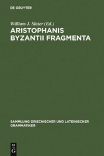 eBook Aristophanis Byzantii Fragmenta Cover