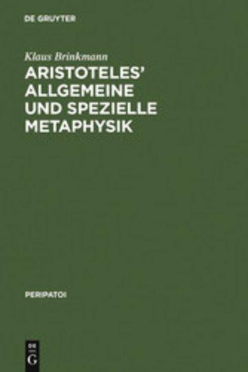 eBook Aristoteles' allgemeine und spezielle Metaphysik Cover