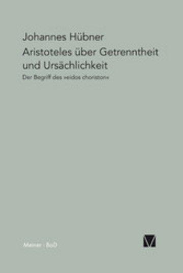 eBook Aristoteles über Getrenntheit und Ursächlichkeit Cover