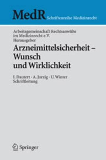 eBook Arzneimittelsicherheit - Wunsch und Wirklichkeit Cover