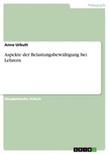 eBook Aspekte der Belastungsbewältigung bei Lehrern Cover