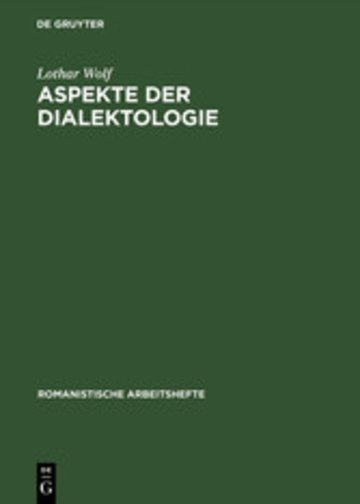eBook Aspekte der Dialektologie Cover