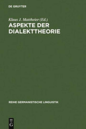 eBook Aspekte der Dialekttheorie Cover