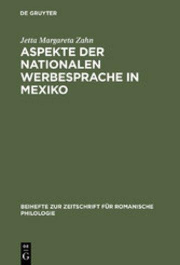 eBook Aspekte der nationalen Werbesprache in Mexiko Cover
