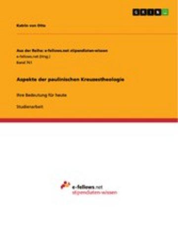 eBook Aspekte der paulinischen Kreuzestheologie Cover