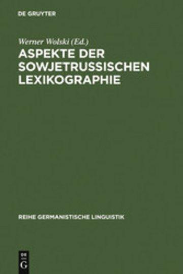 eBook Aspekte der sowjetrussischen Lexikographie Cover
