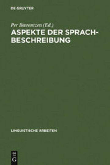 eBook Aspekte der Sprachbeschreibung Cover