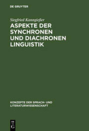 eBook Aspekte der synchronen und diachronen Linguistik Cover