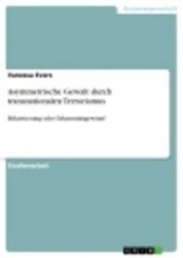 eBook Asymmetrische Gewalt durch transnationalen Terrorismus Cover
