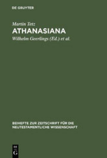 eBook Athanasiana Cover