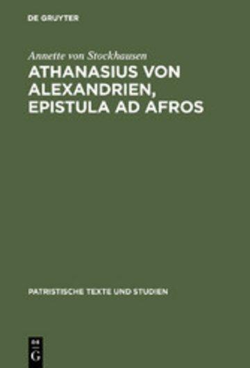 eBook Athanasius von Alexandrien, Epistula ad Afros Cover
