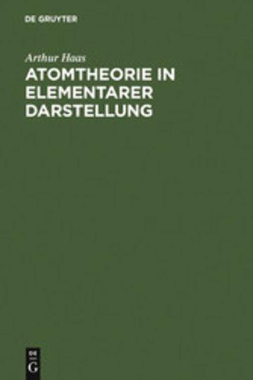eBook Atomtheorie in elementarer Darstellung Cover