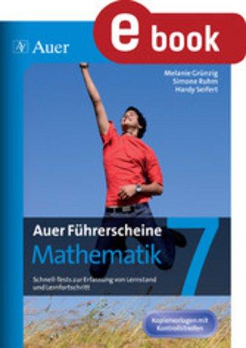 eBook Auer Führerscheine Mathematik Klasse 7 Cover