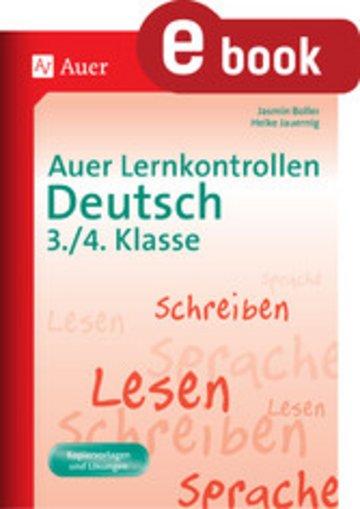eBook Auer Lernkontrollen Deutsch 3.-4. Klasse Cover