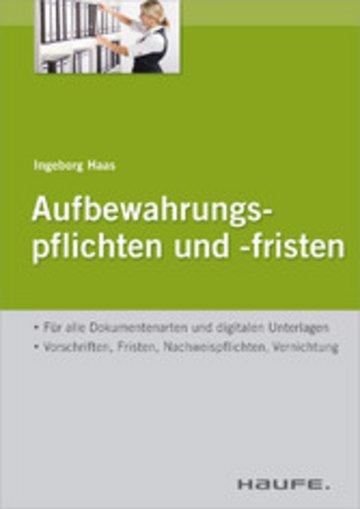 eBook Aufbewahrungspflichten und -fristen Cover