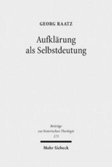 eBook Aufklärung als Selbstdeutung Cover