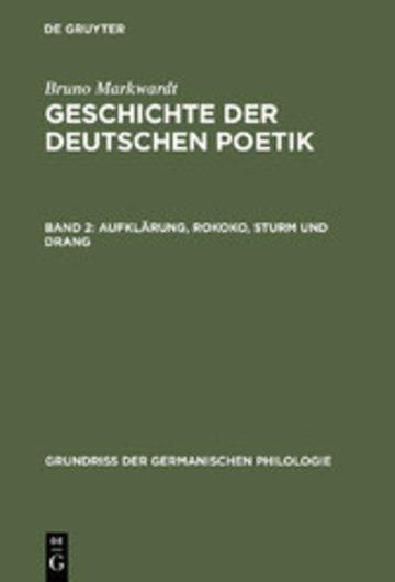 eBook Aufklärung, Rokoko, Sturm und Drang Cover