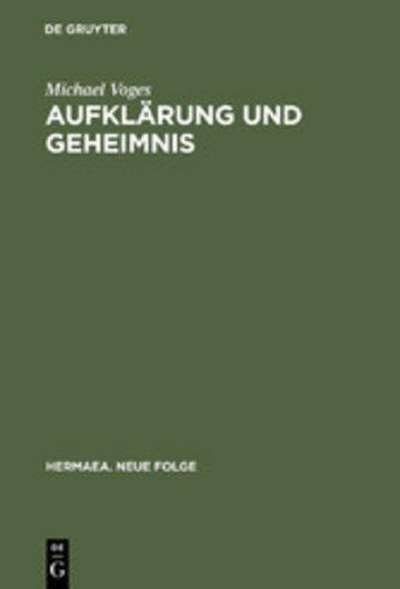 eBook Aufklärung und Geheimnis Cover