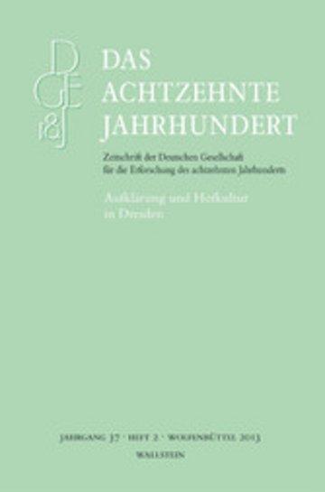 eBook Aufklärung und Hofkultur in Dresden Cover