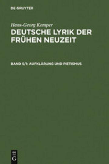 eBook Aufklärung und Pietismus Cover