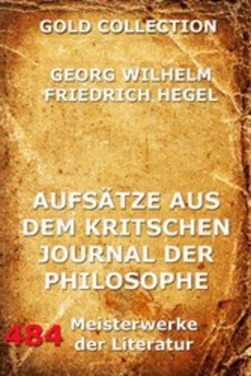 eBook Aufsätze aus dem kritischen Journal der Philosophie Cover