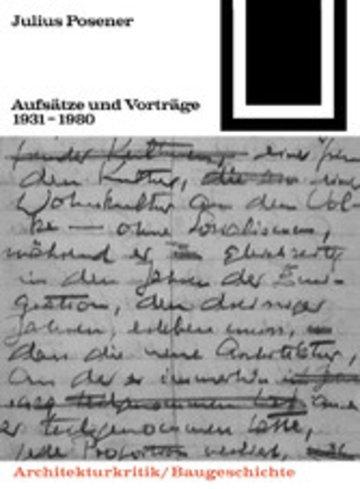 eBook Aufsätze und Vorträge 1931-1980 Cover
