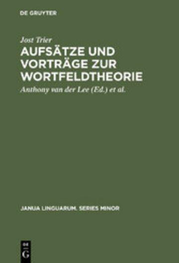eBook Aufsätze und Vorträge zur Wortfeldtheorie Cover