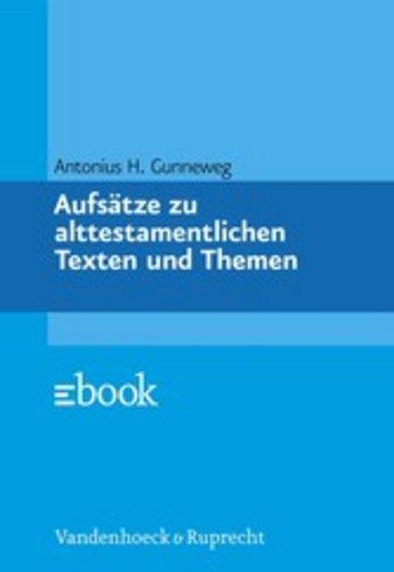 eBook Aufsätze zu alttestamentlichen Texten und Themen Cover