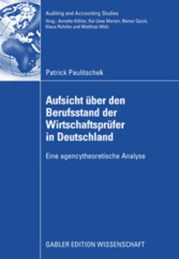eBook Aufsicht über den Berufsstand der Wirtschaftsprüfer in Deutschland Cover