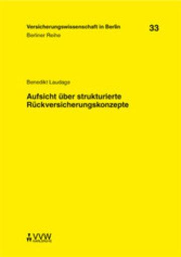 eBook Aufsicht über strukturierte Rückversicherungskonzepte Cover