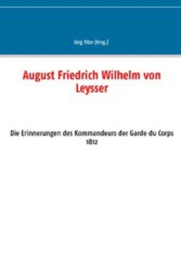 eBook August Friedrich Wilhelm von Leysser Cover