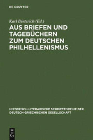 eBook Aus Briefen und Tagebüchern zum deutschen Philhellenismus Cover