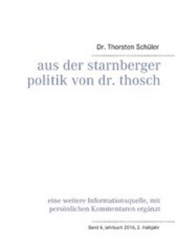 eBook Aus der Starnberger Politik von Dr. Thosch Cover