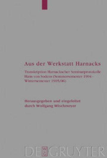 eBook Aus der Werkstatt Harnacks Cover