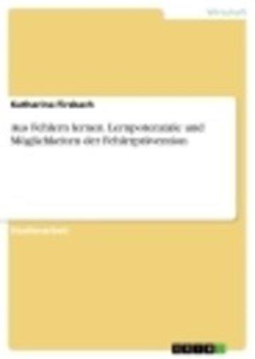eBook Aus Fehlern lernen. Lernpotenziale und Möglichkeiten der Fehlerprävention Cover