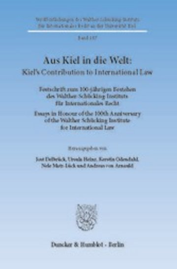 eBook Aus Kiel in die Welt: Kiel's Contribution to International Law. Cover