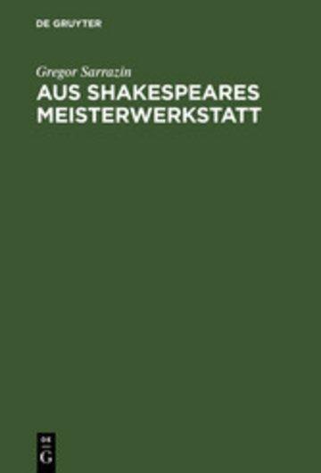 eBook Aus Shakespeares Meisterwerkstatt Cover