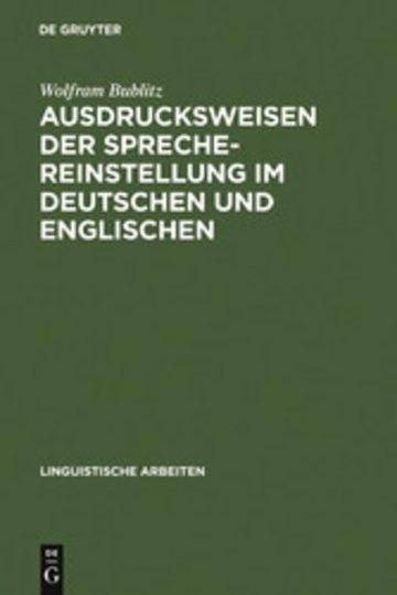 eBook Ausdrucksweisen der Sprechereinstellung im Deutschen und Englischen Cover