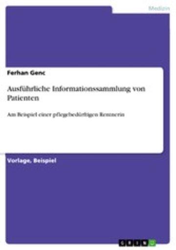eBook Ausführliche Informationssammlung von Patienten Cover