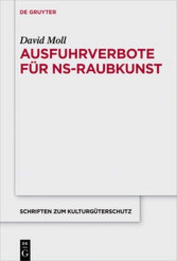 eBook Ausfuhrverbote für NS-Raubkunst Cover