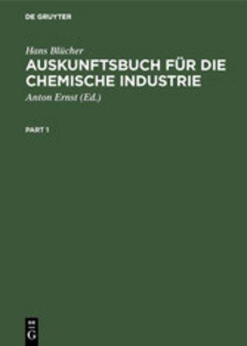 eBook Auskunftsbuch für die chemische Industrie Cover