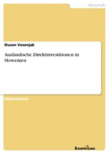 eBook Ausländische Direktinvestitionen in Slowenien Cover