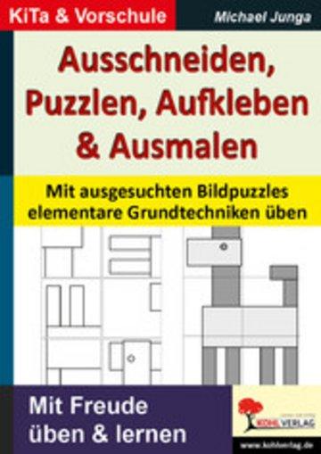 eBook Ausschneiden, Puzzeln, Aufkleben, Ausmalen Cover