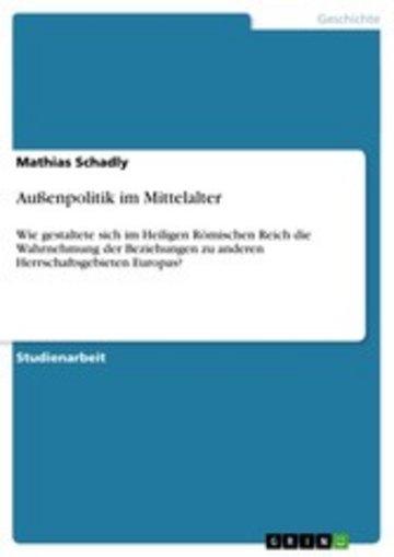 eBook Außenpolitik im Mittelalter Cover