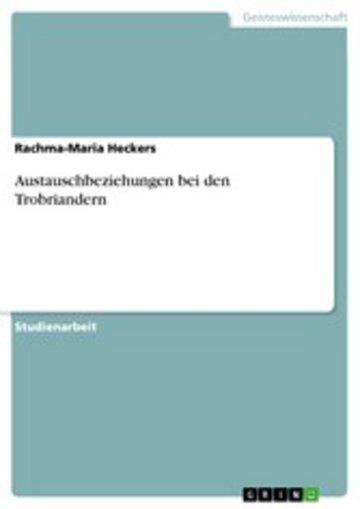 eBook Austauschbeziehungen bei den Trobriandern Cover