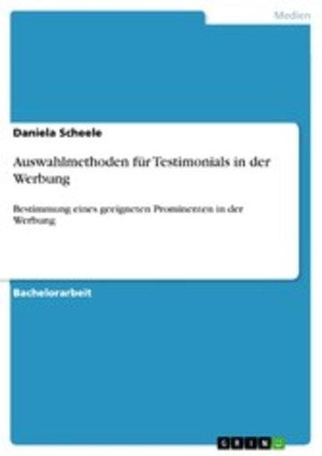 eBook Auswahlmethoden für Testimonials in der Werbung Cover