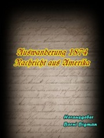 eBook Auswanderung 1874 Cover