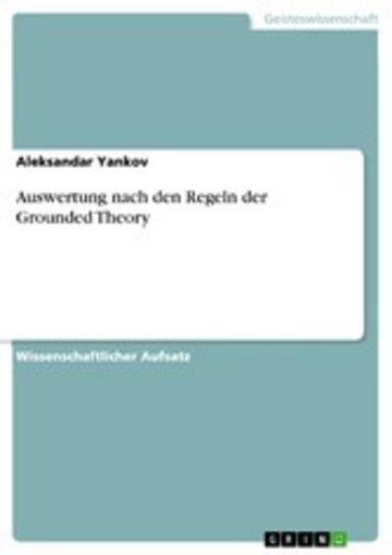 eBook Auswertung nach den Regeln der Grounded Theory Cover
