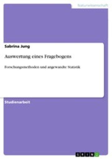 eBook Auswertung eines Fragebogens Cover