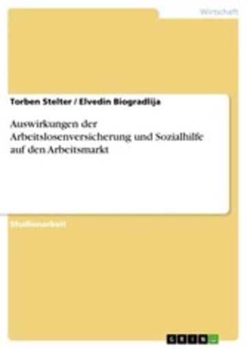 eBook Auswirkungen der Arbeitslosenversicherung und Sozialhilfe auf den Arbeitsmarkt Cover